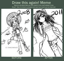 Improvement Meme: '08 vs '11 by Aki-no-Hitsuji