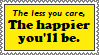[STAMP] The less you care, the happier you'll be. by HudicMark219