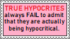 [STAMP] Hypocrisy is sometimes admittable. by HudicMark219