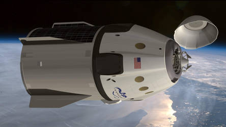 SpaceX Dragon V2 by Emigepa