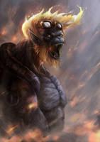 Fire Monkey by arifwijaya