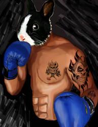 rabbit fantasy  boxing by joeyandrea