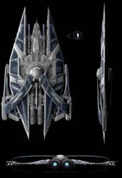 Ortho - Large Space Warship by zzombat