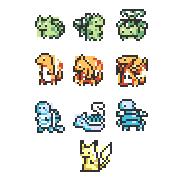 16x16 Pokemon by e-pona