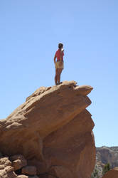Girl at Ghost Ranch by laurapalmer