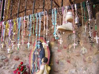 Shrine at Santuario de Chimayo by laurapalmer