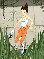 Portal : Chell by h-shi