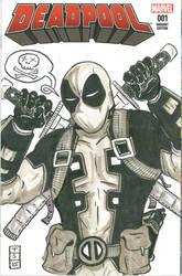 Deadpool #1 Sketch Cover by sedani