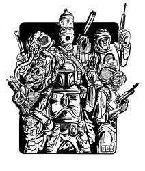 Vader's Bounty Hunters INKS by sedani