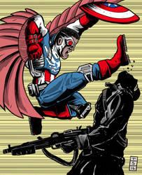 Falcon Captain America by sedani
