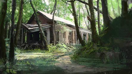 Abandoned house by LLirik-13