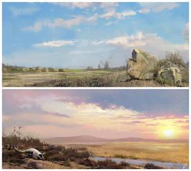 Landscape sketches#2 by LLirik-13