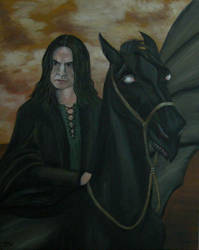 Deatheater and his Thestral by Vulkanette