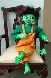 Putschi, the green Devil by Vulkanette