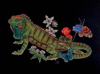 Iguana by Vulkanette