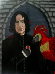 Snape and Fawkes by Vulkanette