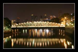 Singapore Night Bridge by Keith-Killer