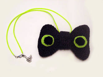 Toothless Inspired Knit Bow Tie Necklace by Hope555