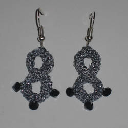 Thread Crochet Infinity Earrings by Hope555