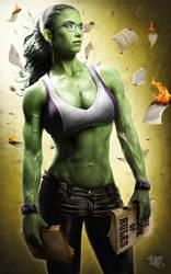 She Hulk Commission by Jeffach