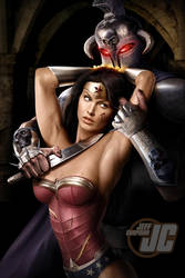 Wonder Woman and Ares Commission by Jeffach