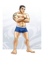 Raul - In underwear V2 by Hex-Loona