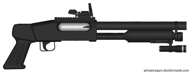 Pump-action shotgun by crimsonthunder1995