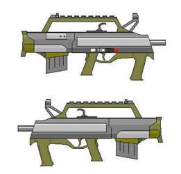 Semi-Auto Bullpup Shotgun by crimsonthunder1995