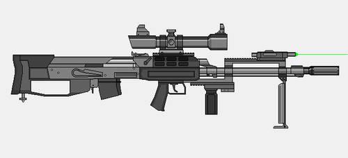 AK 47 bullpup sniper by crimsonthunder1995