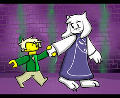 (Undertale and Ninjago) Lloyd and Toriel by Laura10211