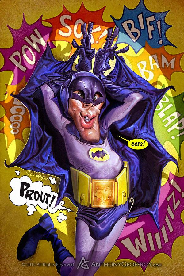 BATMAN adam West by AnthonyGeoffroy