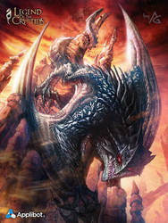 Red Eyes Black dragon by AnthonyGeoffroy
