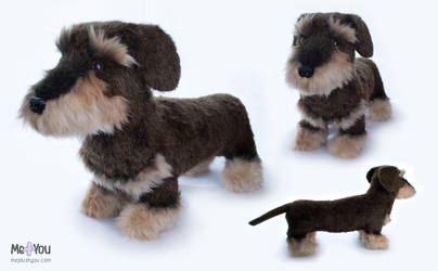 Wire haired dachshund plush by meplushyou