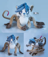Blue the Spidermouse by meplushyou