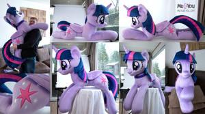Life sized Twilight Sparkle plush by meplushyou