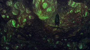 Wanderer In the forgotten woods by Friis