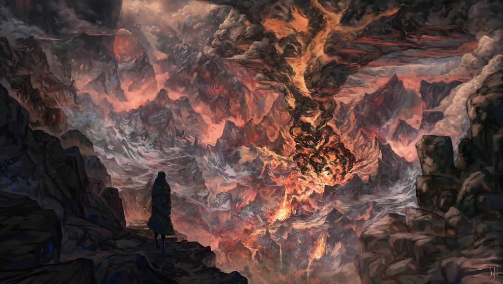 Wanderer in a dangerous place by Friis