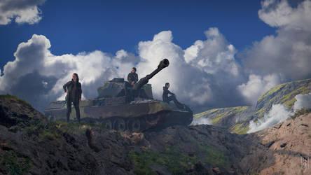 Tank crew by Friis