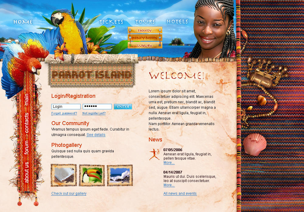 parrot island by blackblurrr