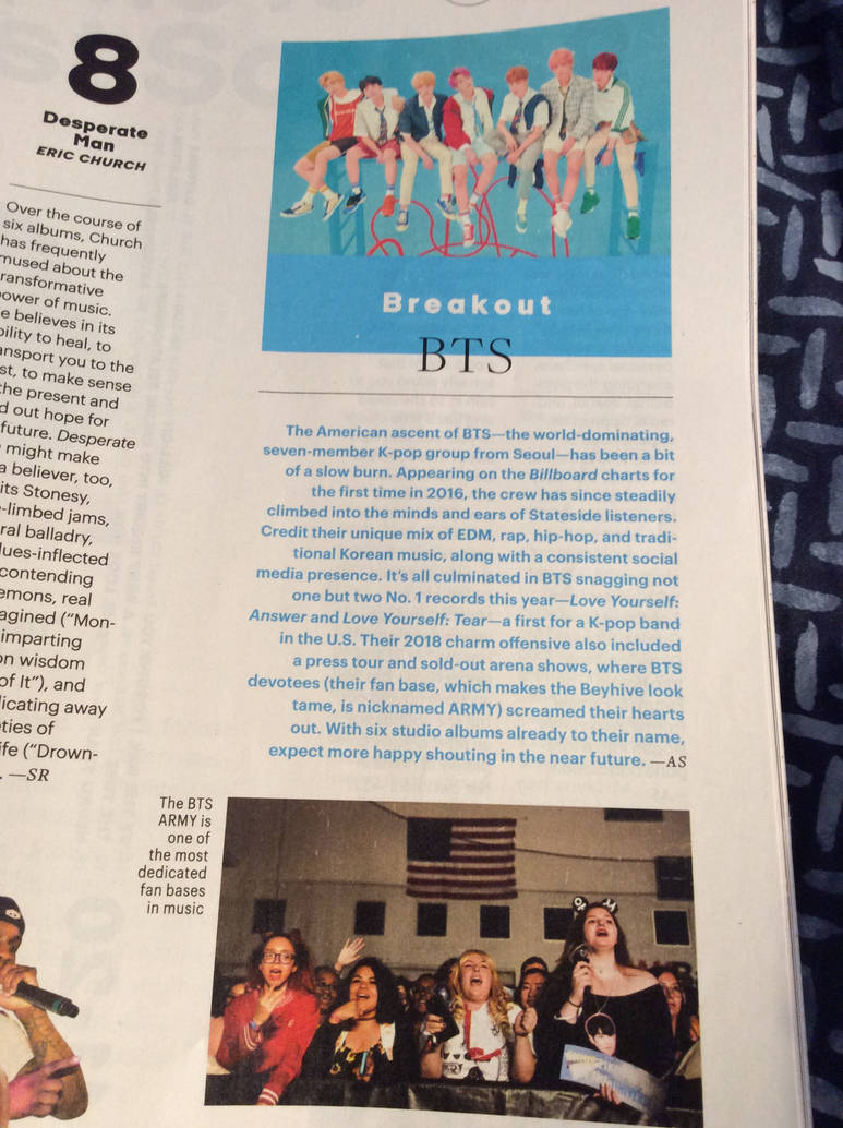 BTS Are In The New Entertainment Weekly! by SugaLawliet