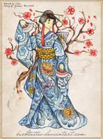 geisha from mariel by buchtattoo