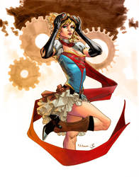 Steampunk Supergirl by ChrisShields