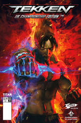 Jin kazama tekken comic cover may2017 by kanartist