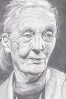 Portrait of Jane Goodall by Dorathean