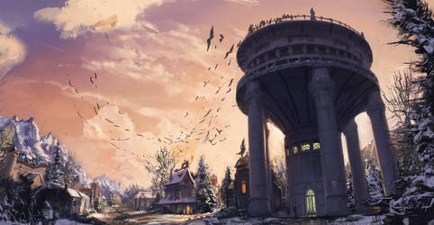 Water Tower by AtSkiy