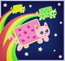 Three Nyan Kittens by yami-joey