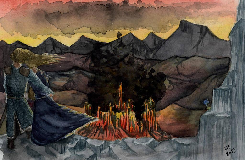 Leaving Gondolin by Dulliros