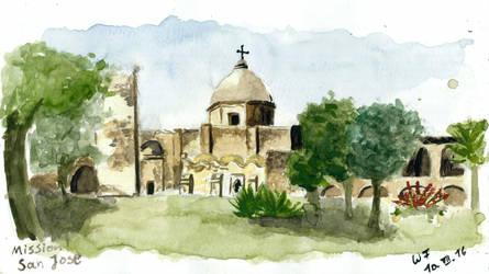 San Jose Mission near San Antonio by Dulliros
