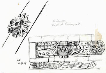 Templo Quetzacoatl by Dulliros