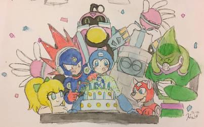 Happy Birthday, Blue Bomber! by Prixelpop